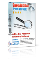 SpotAuditor Recovers IE, Outlook, ICQ, Far, SecureFX, VNC, Dial up, Trillian, MSN passwords.