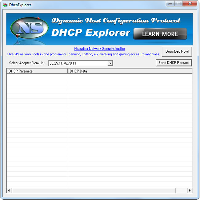 Click to view DhcpExplorer 1.2 screenshot