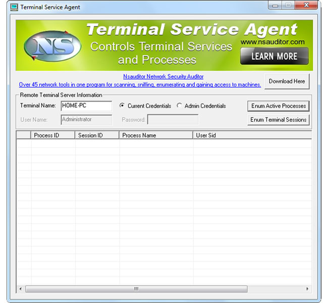 Click to view TerminalServiceAgent 1.3.2 screenshot